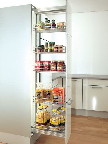 Soft Line Pull Out Pantry Unit 600 Chrome
